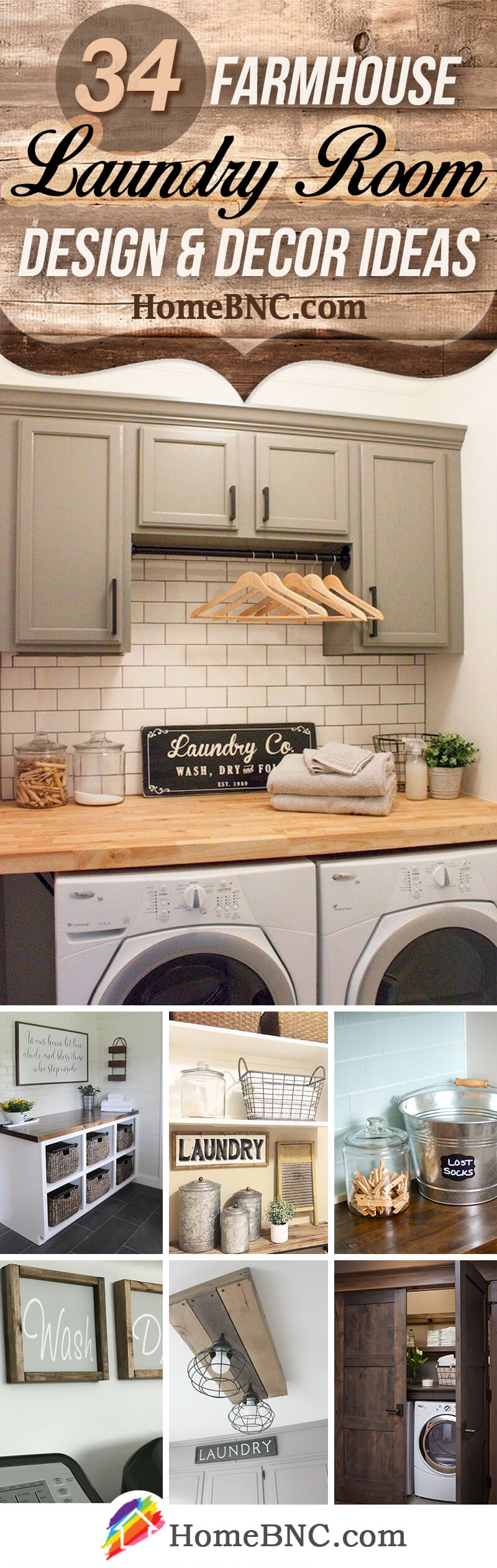 34 Best Farmhouse Laundry Room Decor Ideas and Designs for ... on Laundry Room Decor Ideas  id=74346