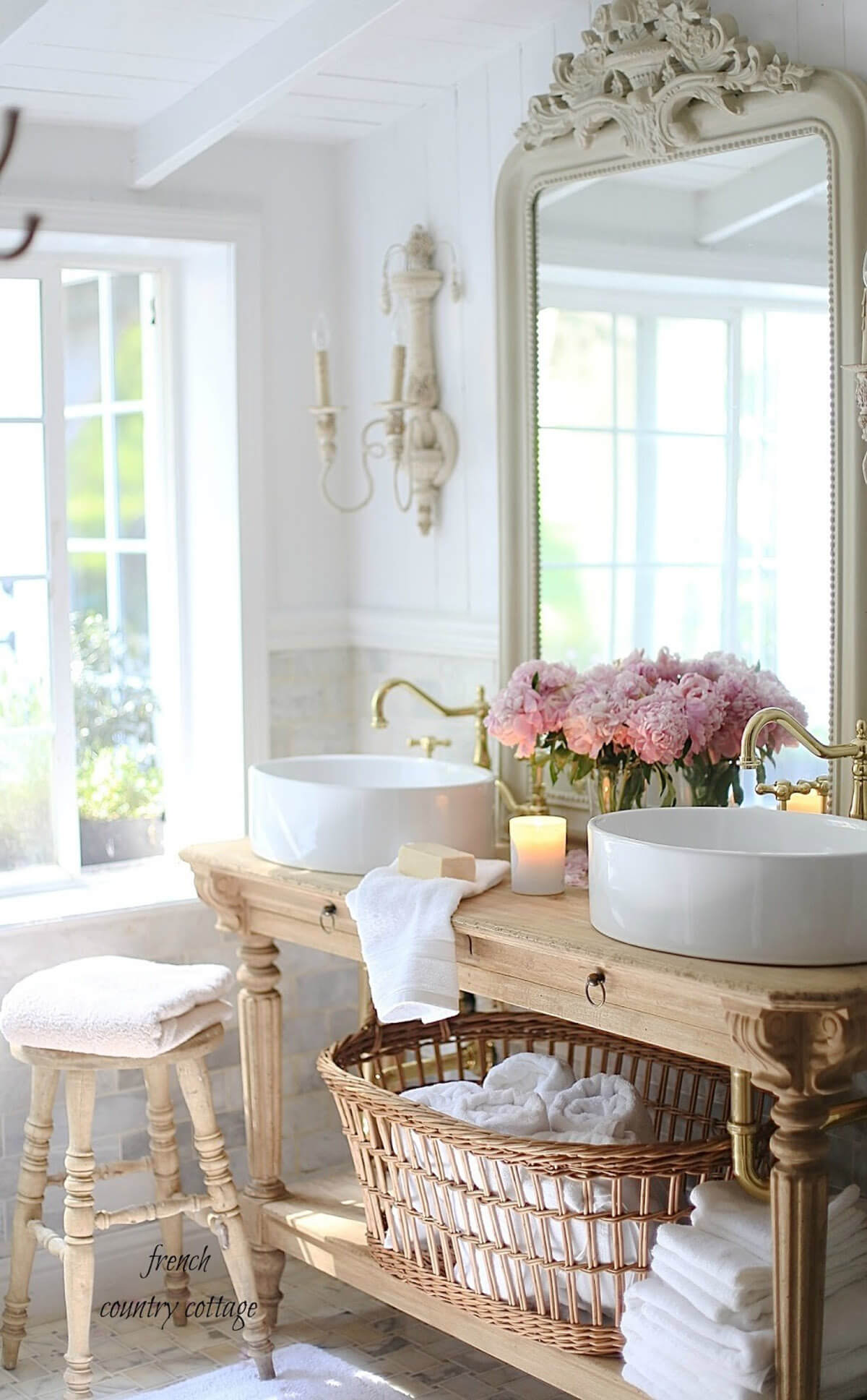 30 Best Cottage Style Bathroom Ideas and Designs for 2020 on Rural Bathroom  id=12420