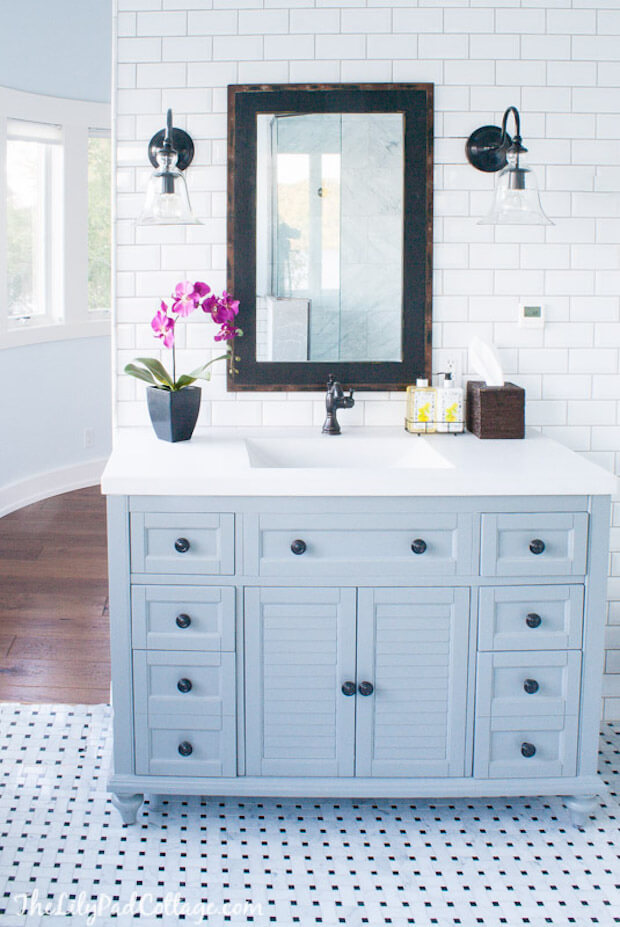30 Best Cottage Style Bathroom Ideas and Designs for 2020 on Rural Bathroom  id=38500