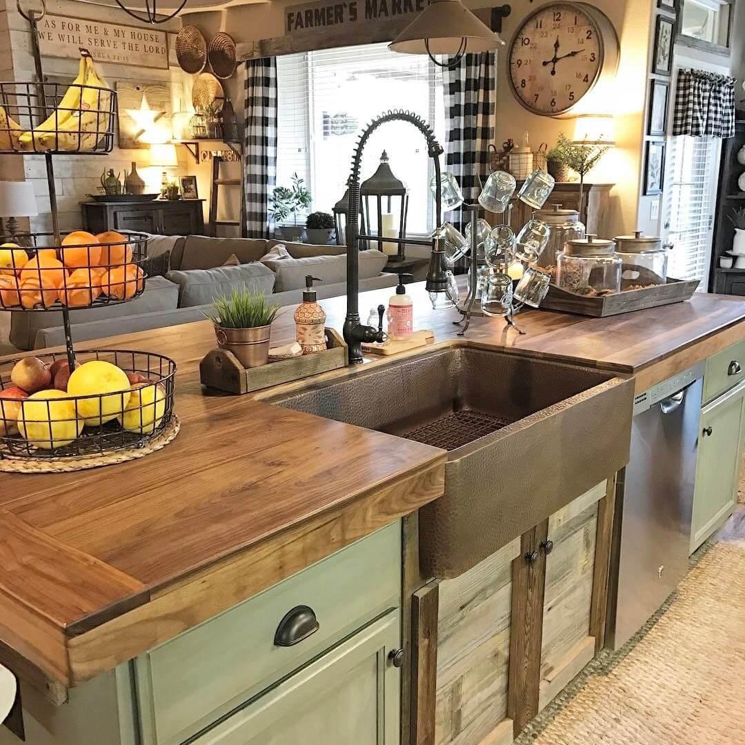 26 Farmhouse Kitchen Sink Ideas and Designs for 2020 on Kitchen Sink Ideas  id=29544