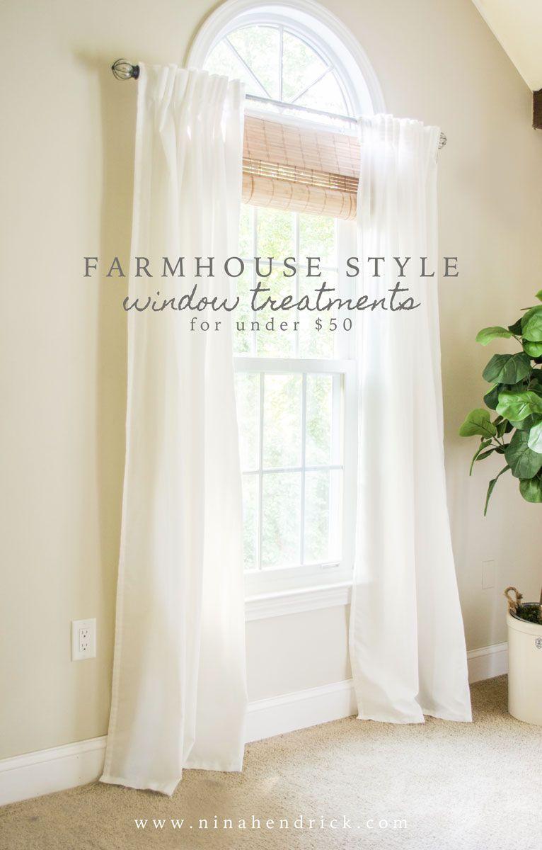 26 Best Farmhouse Window Treatment Ideas and Designs for 2020 on Farmhouse Dining Room Curtain Ideas  id=29040