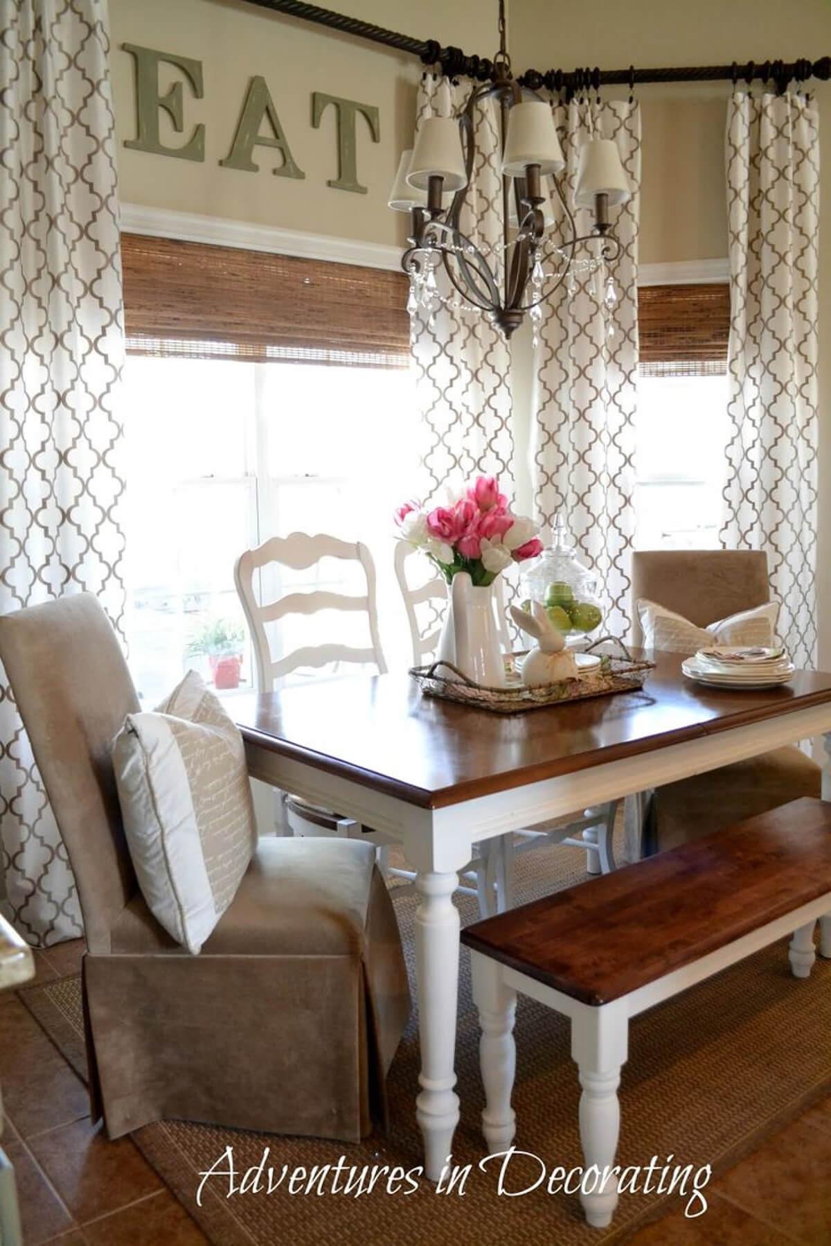 26 Best Farmhouse Window Treatment Ideas and Designs for 2020 on Farmhouse Dining Room Curtain Ideas  id=32714