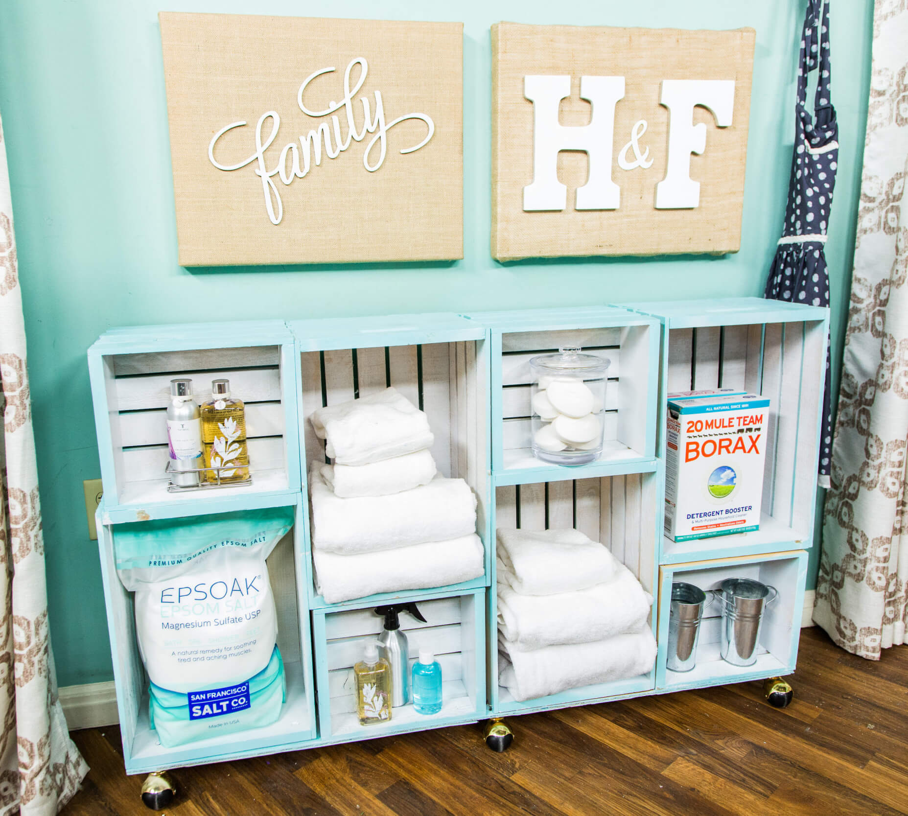 Whitewashed Storage Shelving Unit from Wooden Crates