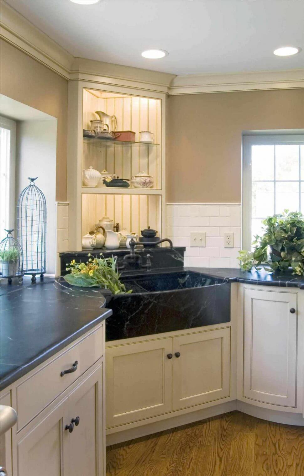 26 Farmhouse Kitchen Sink Ideas and Designs for 2020 on Kitchen Sink Ideas  id=35332