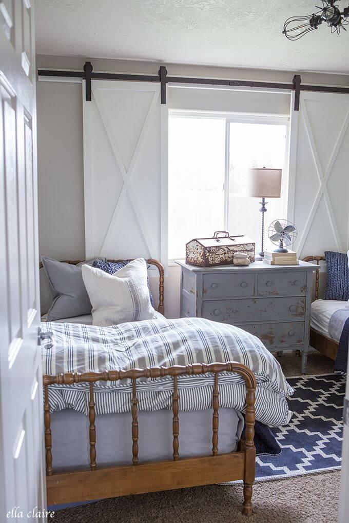26 Best Farmhouse Window Treatment Ideas and Designs for 2020 on Farmhouse Curtain Ideas  id=38979
