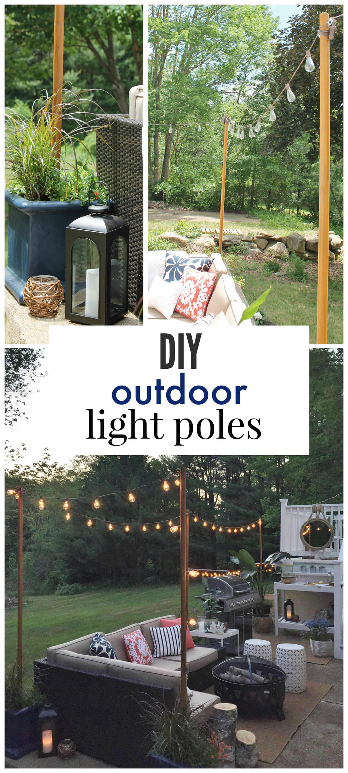 25 Best DIY Outdoor Lighting Ideas and Designs for 2020 on Backyard String Light Designs id=65194