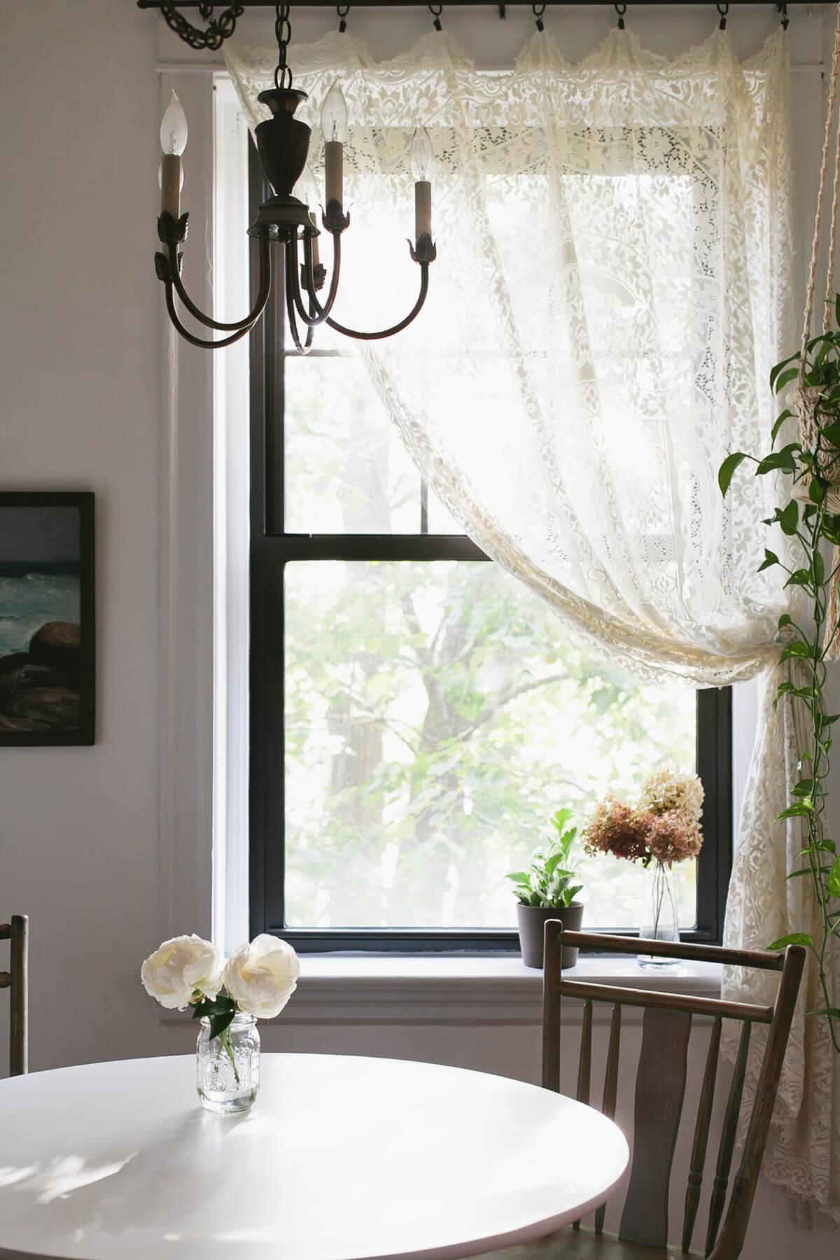 26 Best Farmhouse Window Treatment Ideas and Designs for 2020 on Farmhouse Dining Room Curtain Ideas  id=45721
