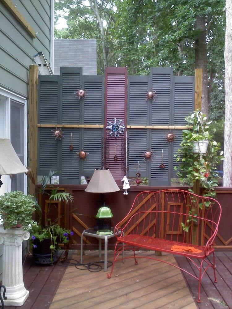 38 Best Old Shutter Outdoor Decor Ideas and Designs for 2019 on Backyard Wall Decor Ideas  id=57452