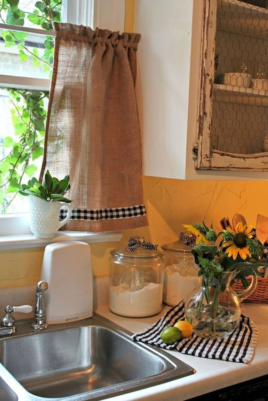 26 Best Farmhouse Window Treatment Ideas and Designs for 2020 on Farmhouse Dining Room Curtain Ideas  id=28125