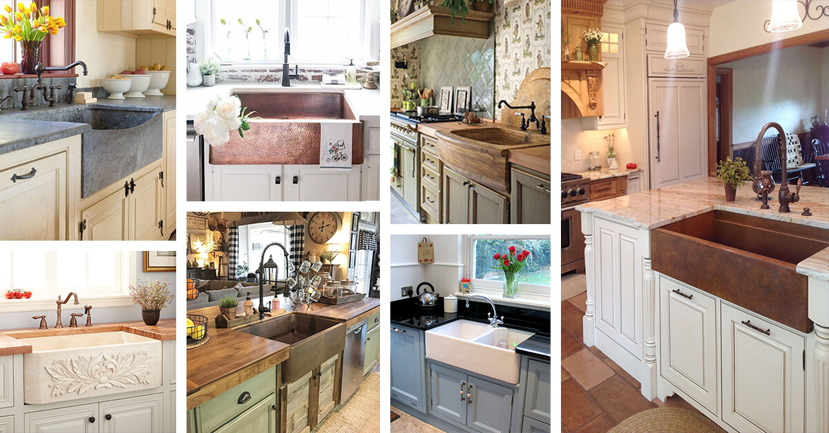 26 Farmhouse Kitchen Sink Ideas and Designs for 2020 on Farmhouse Kitchen Sink Ideas  id=68942
