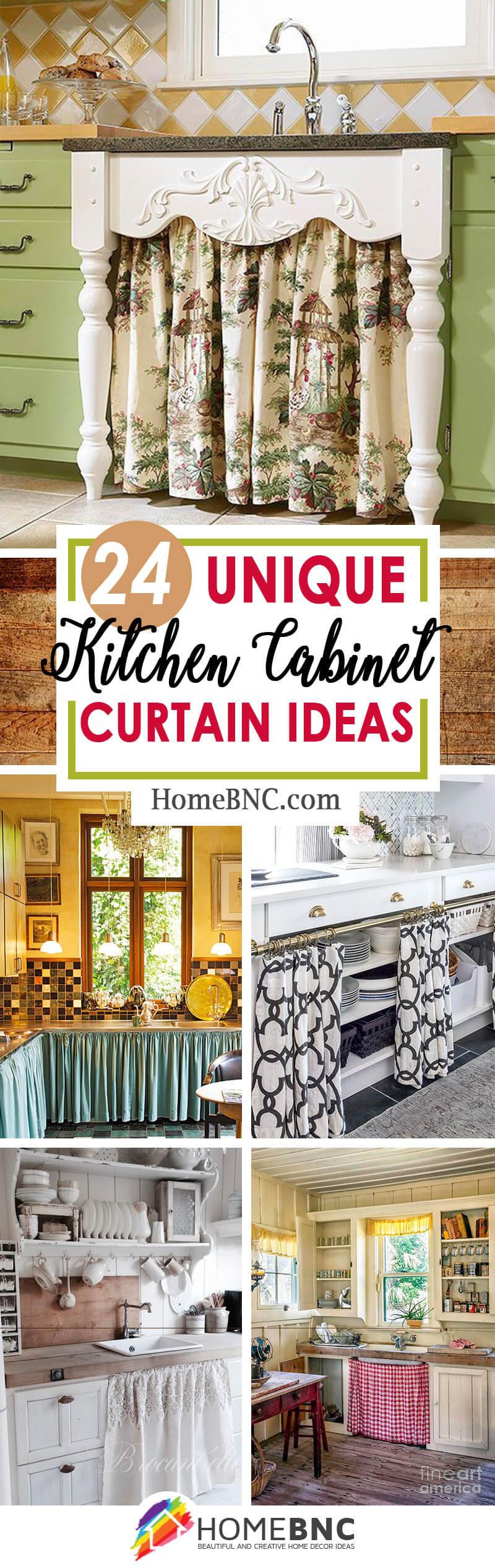 24 best kitchen cabinet curtain ideas