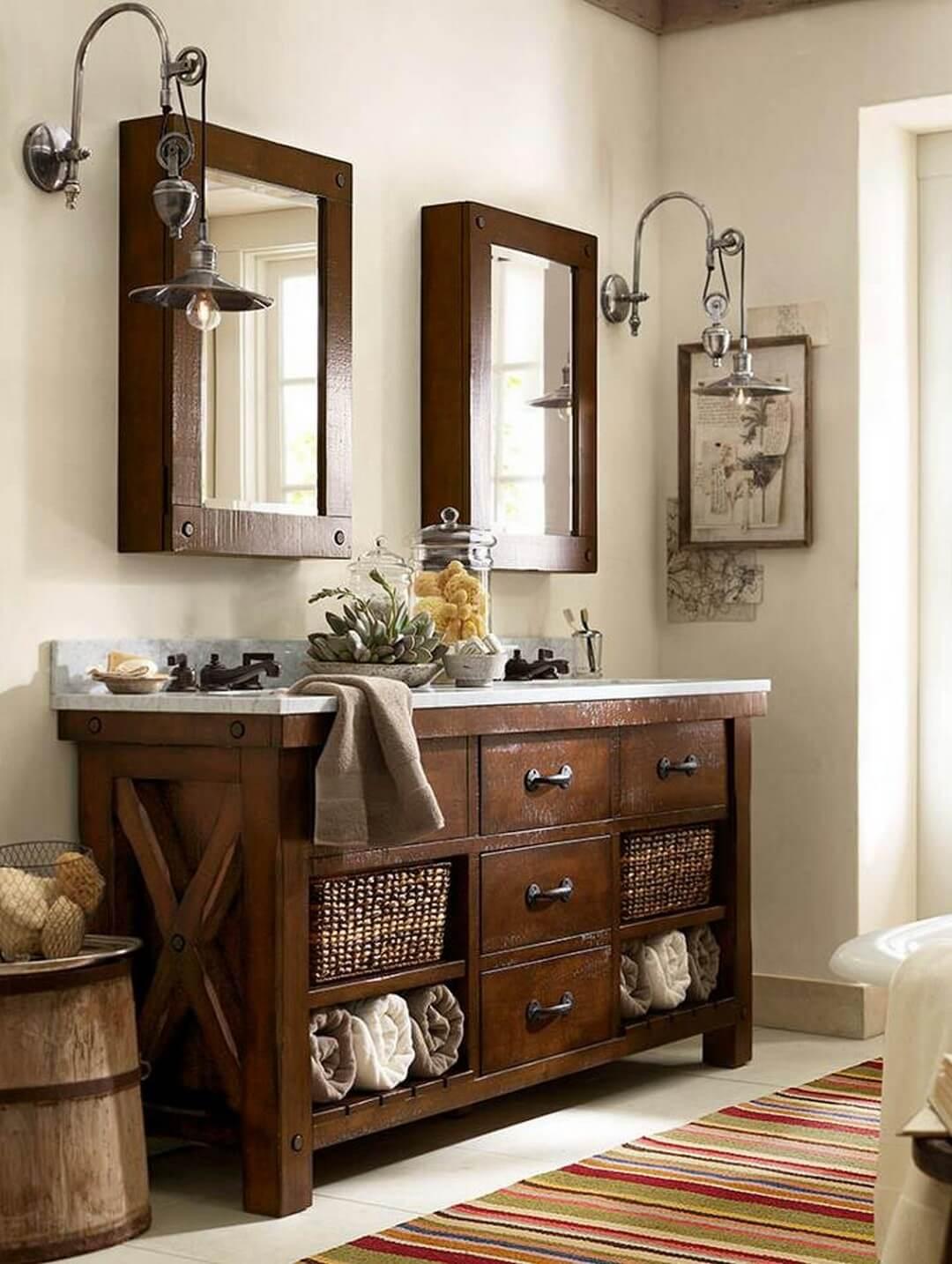35 best rustic bathroom vanity ideas and designs for 2020 on rustic bathroom designs photos id=75787