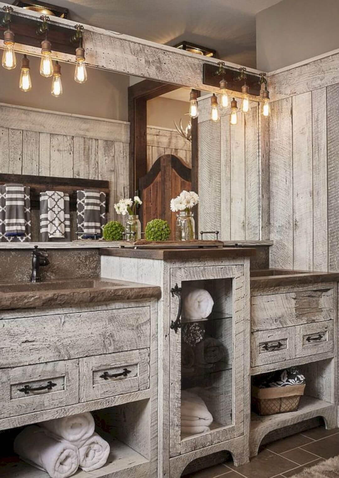 35 best rustic bathroom vanity ideas and designs for 2020 on rustic bathroom designs photos id=33842