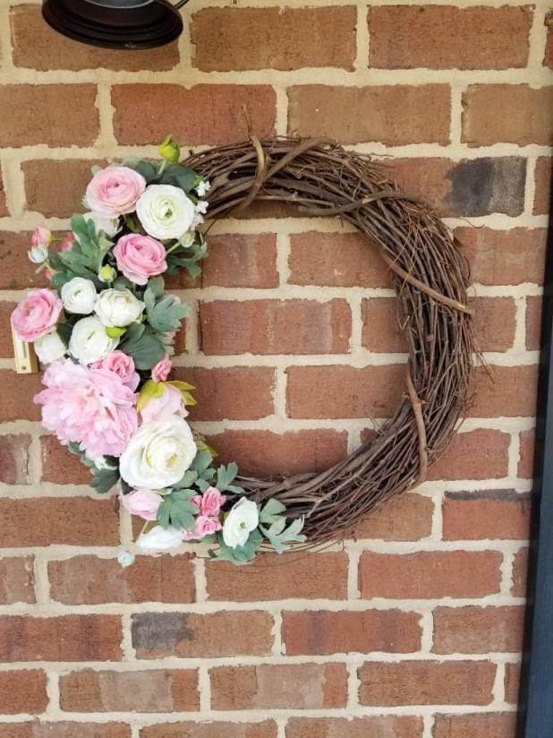 Pale Spring Wreath Ideas from Etsy