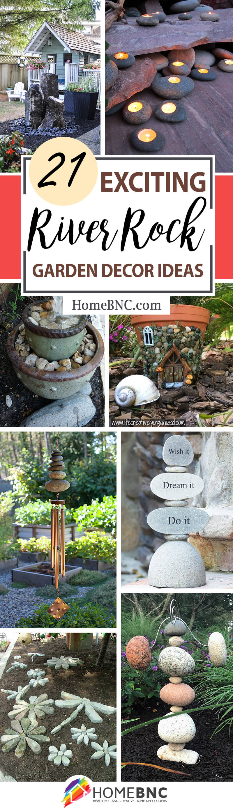 21 Best River Rock and Stone Garden Decorating Ideas for 2020 on Rock Decorating Ideas  id=41412