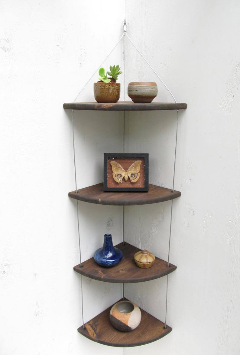 Super Cute Hanging Wooden Shelf