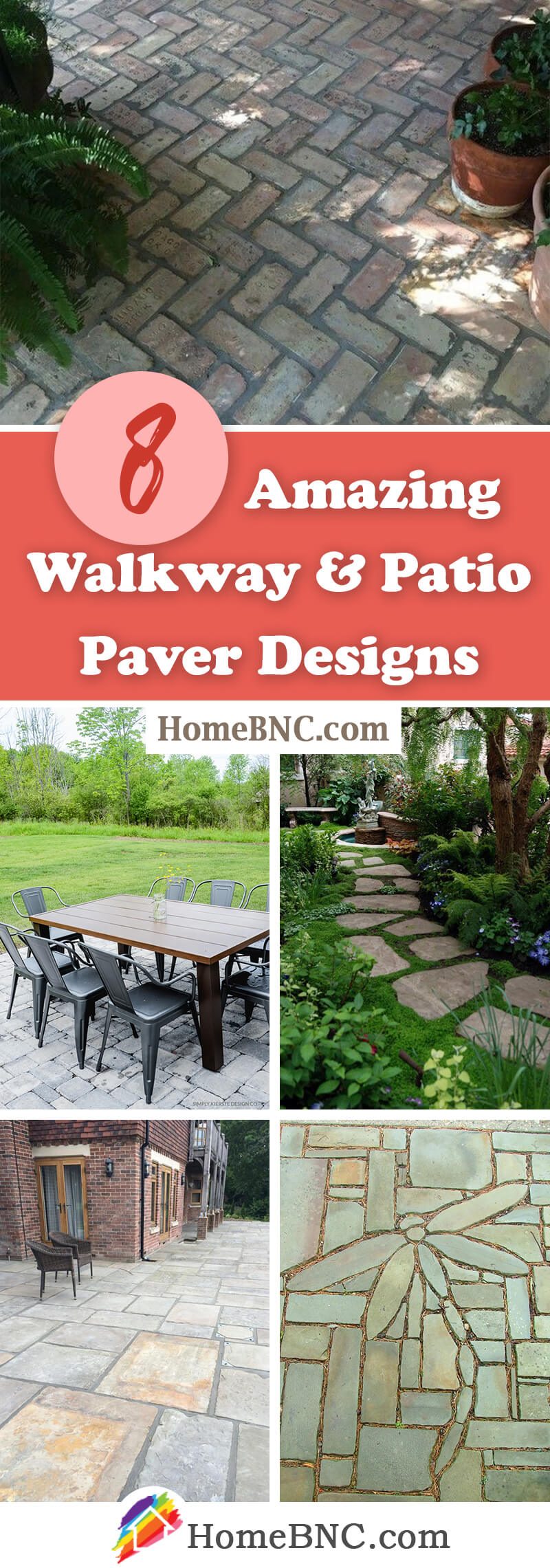 walkway and patio paver design ideas