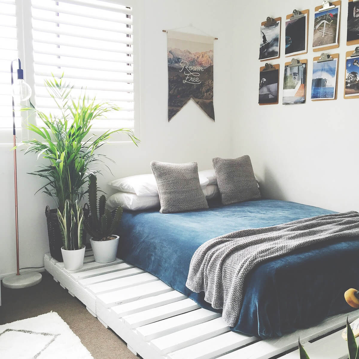 20 Best DIY Pallet Bed Frame Ideas to Update Your Bedroom ... on Pallet Room Ideas  id=32219