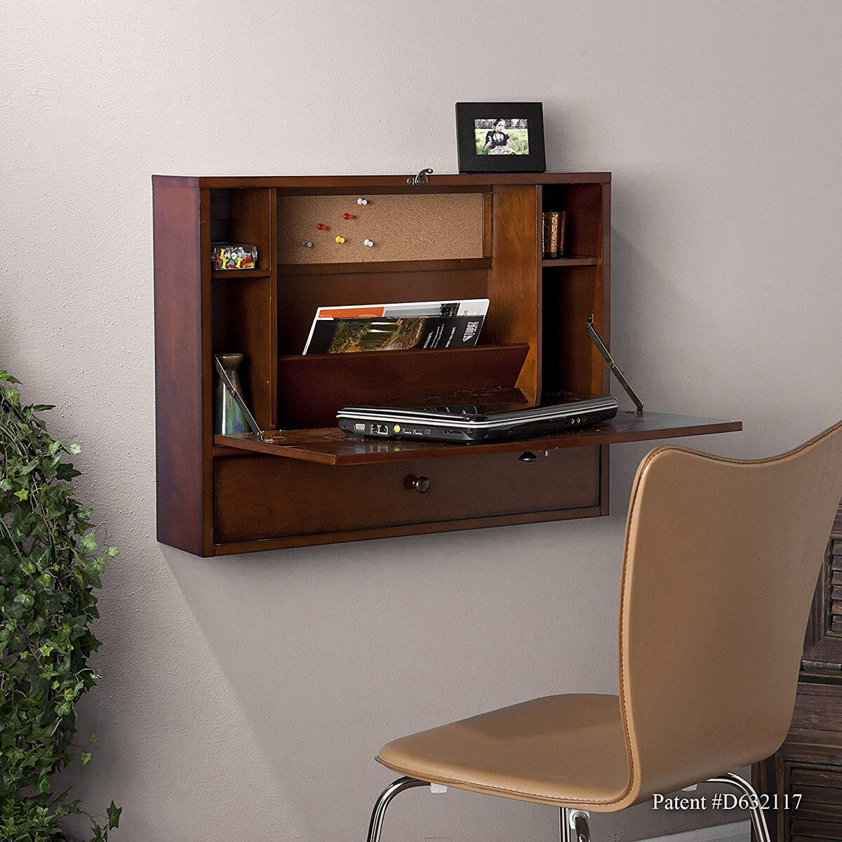 Solid Wood Folding Wall Table Design