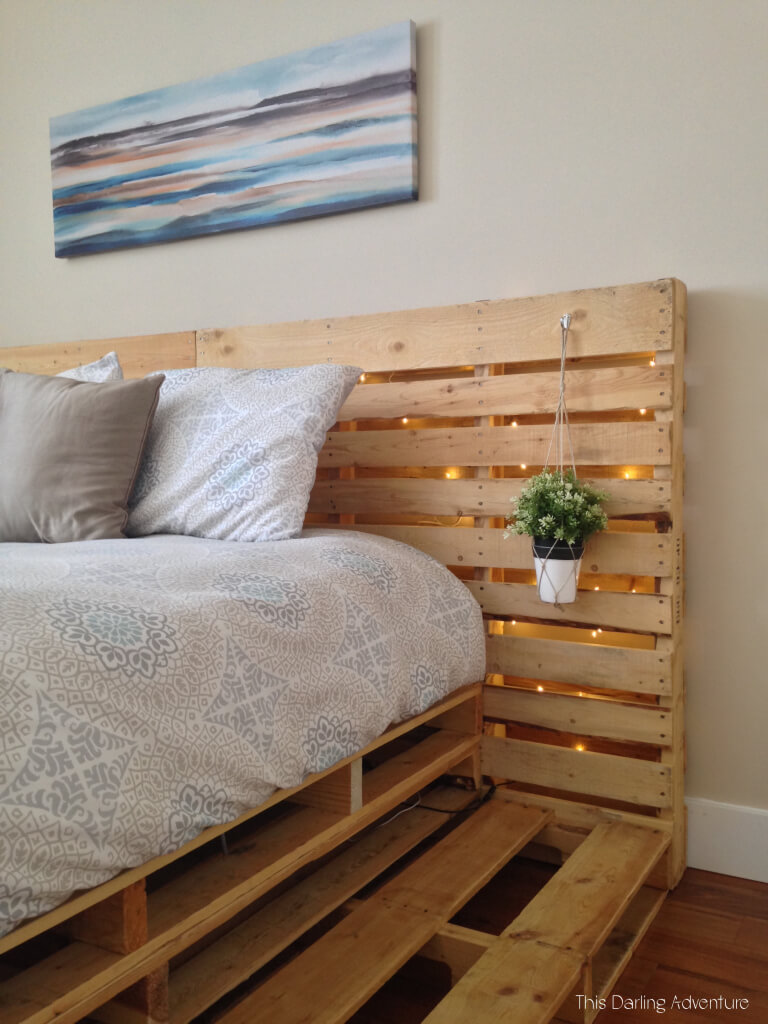 20 Best DIY Pallet Bed Frame Ideas to Update Your Bedroom ... on Bedroom Pallet Ideas  id=60038