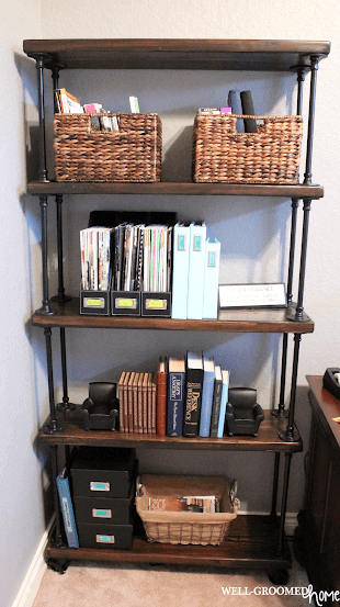 Office-Ready Professional DIY Pipe Shelf Design