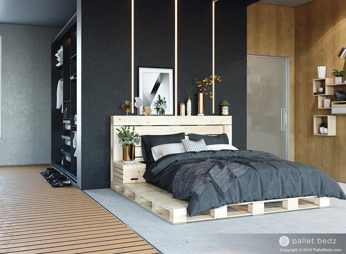 20 Best DIY Pallet Bed Frame Ideas to Update Your Bedroom ... on Pallet Bedroom  id=84260