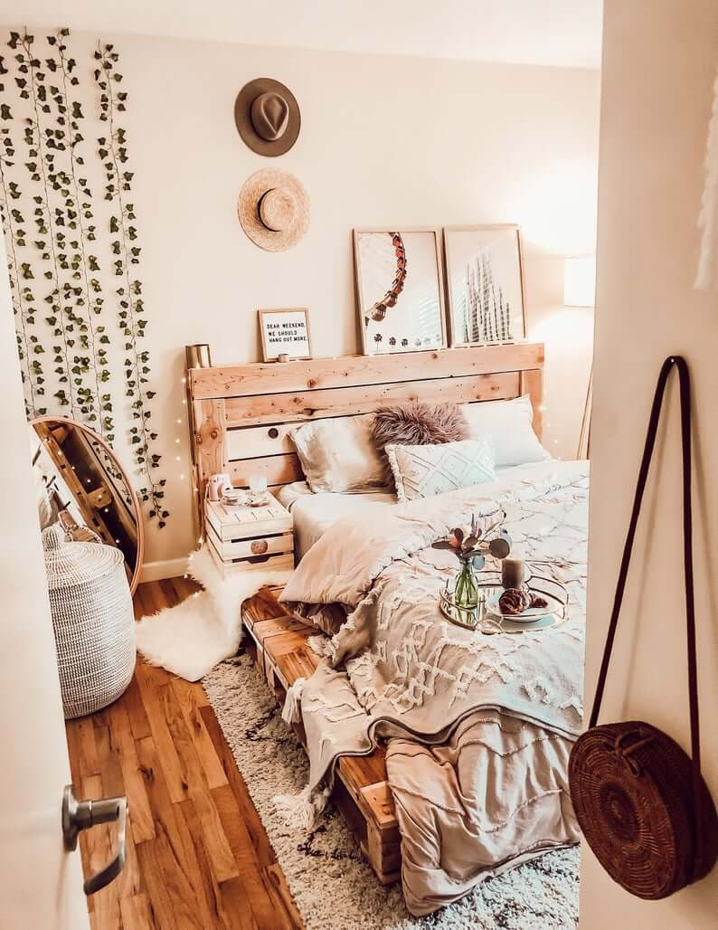 20 Best DIY Pallet Bed Frame Ideas to Update Your Bedroom ... on Pallet Bedroom Ideas  id=24293