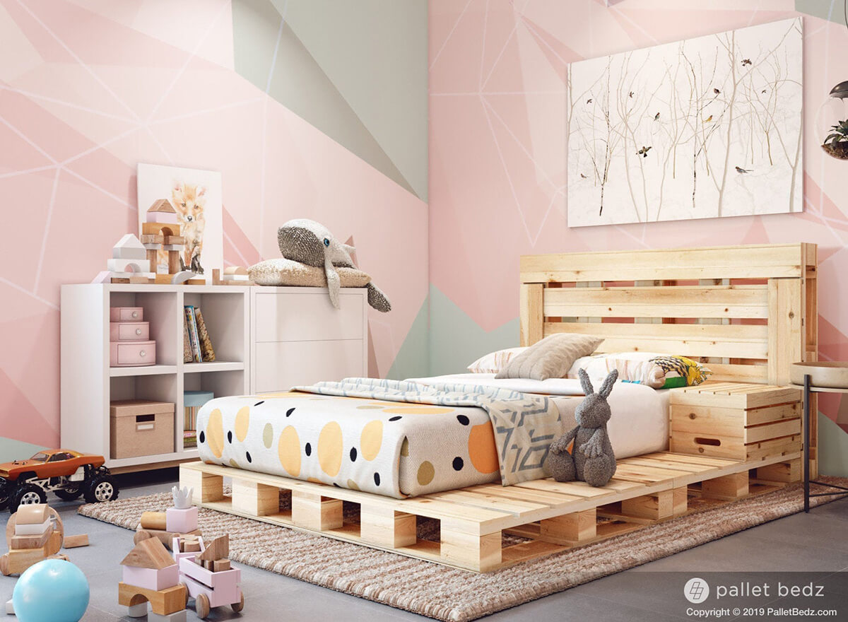 Inspired Pallet Bed Idea for Kids Rooms