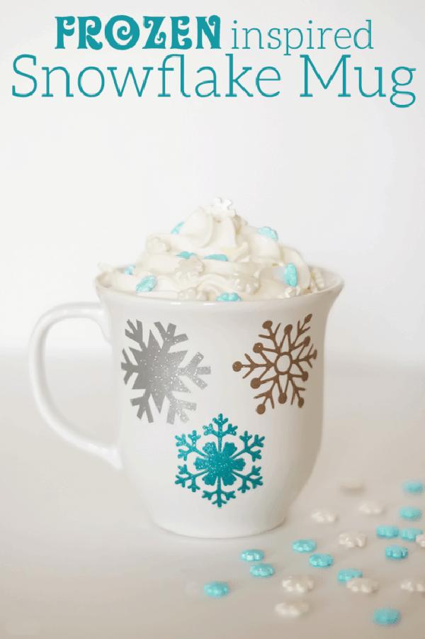 Frozen Metallic Snowflake Mug Idea