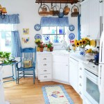 Blue And White Checkered Kitchen Curtains Homebnc