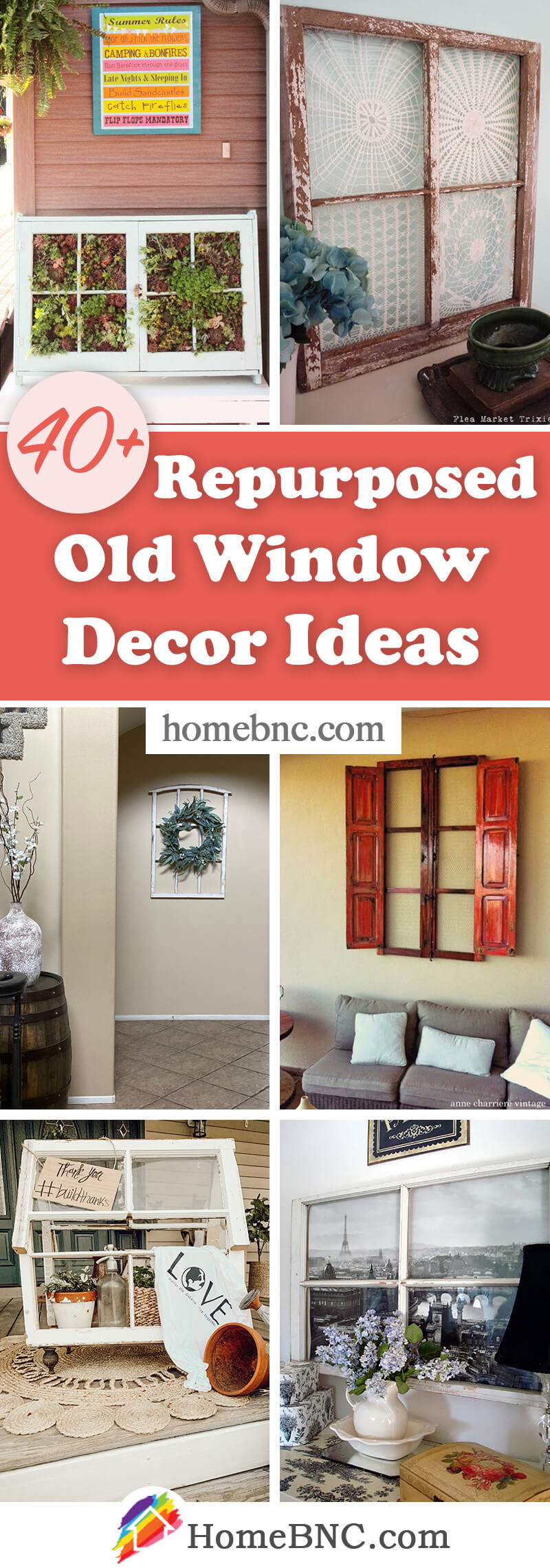 40 best repurposed old window ideas