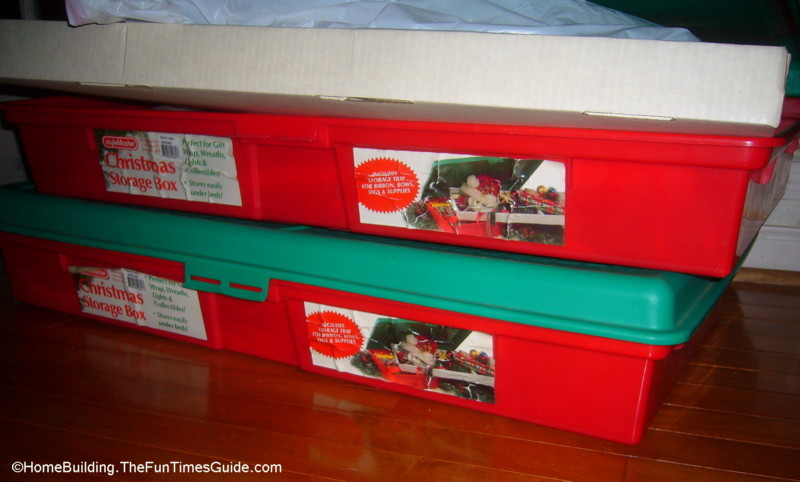 Holiday Wreath Storage Containers