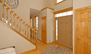 grand entry, entry foyer, oak entry, wood flooring,entry staircase