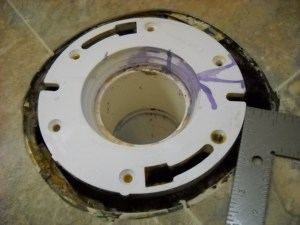toilet flange replacement