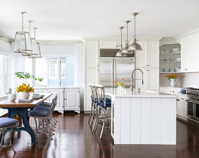 Beach House With Subtle Blue And White Interiors