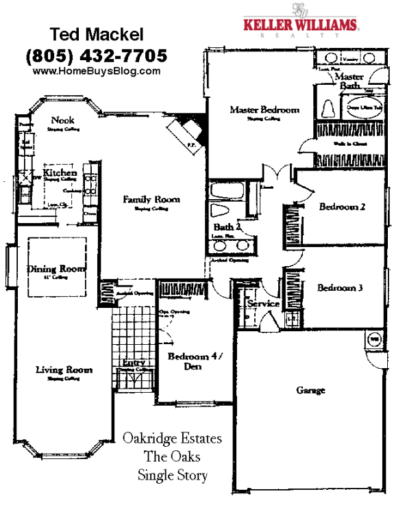 Oakridge estates simi valley The Oaks Floor plan