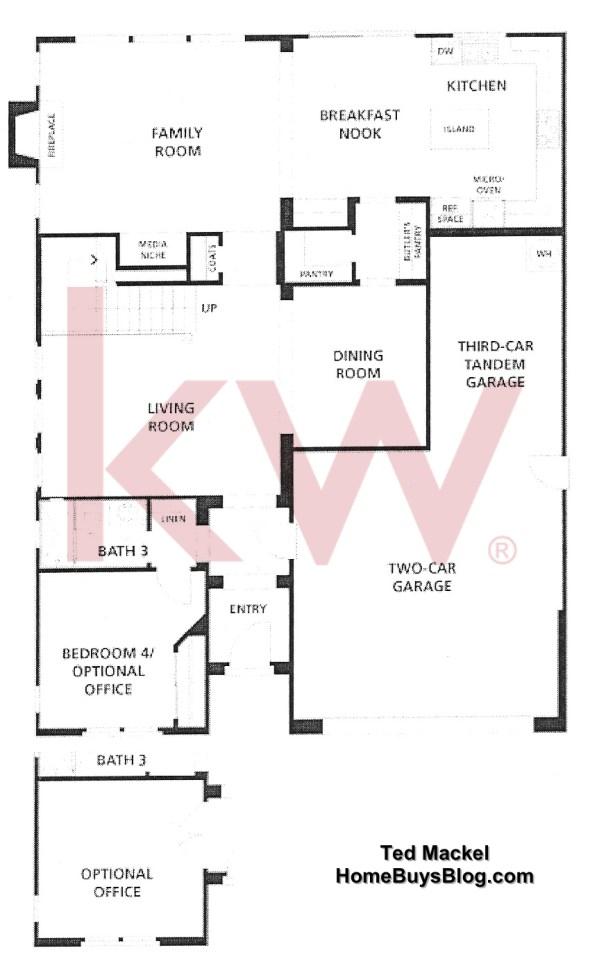 Big Sky Simi Valley Tioga Plan three First Floor