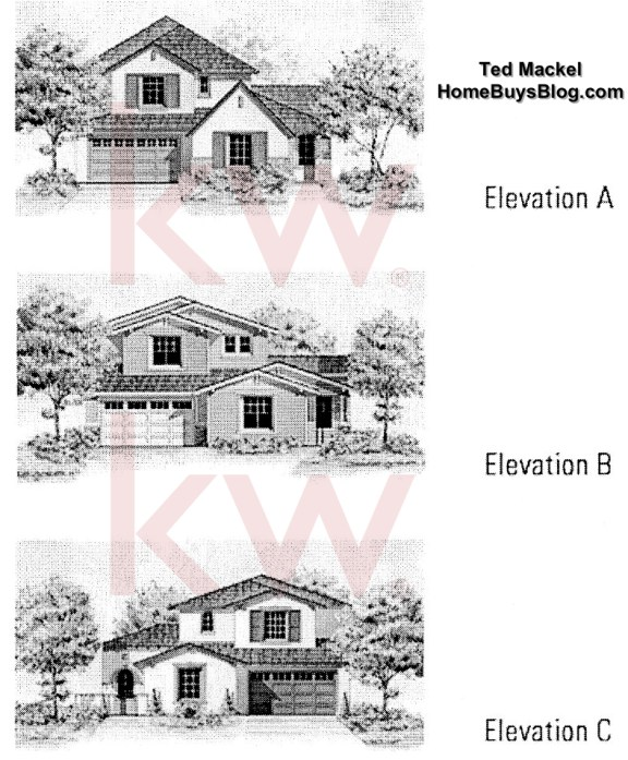 Big Sky SImi Valley Walnut Grove tract Plan 2 elevations