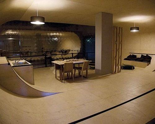 Basement Skateboard Area