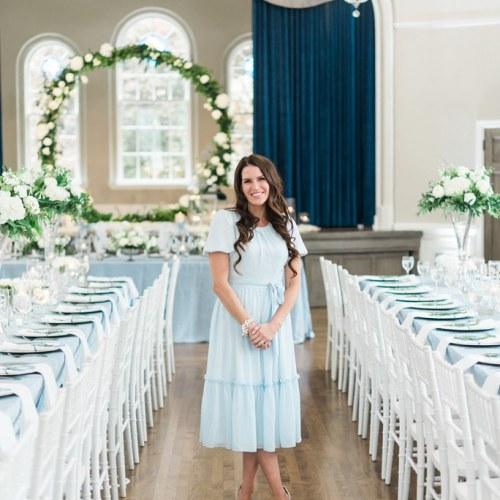 Dusty Blue & Silver Wedding