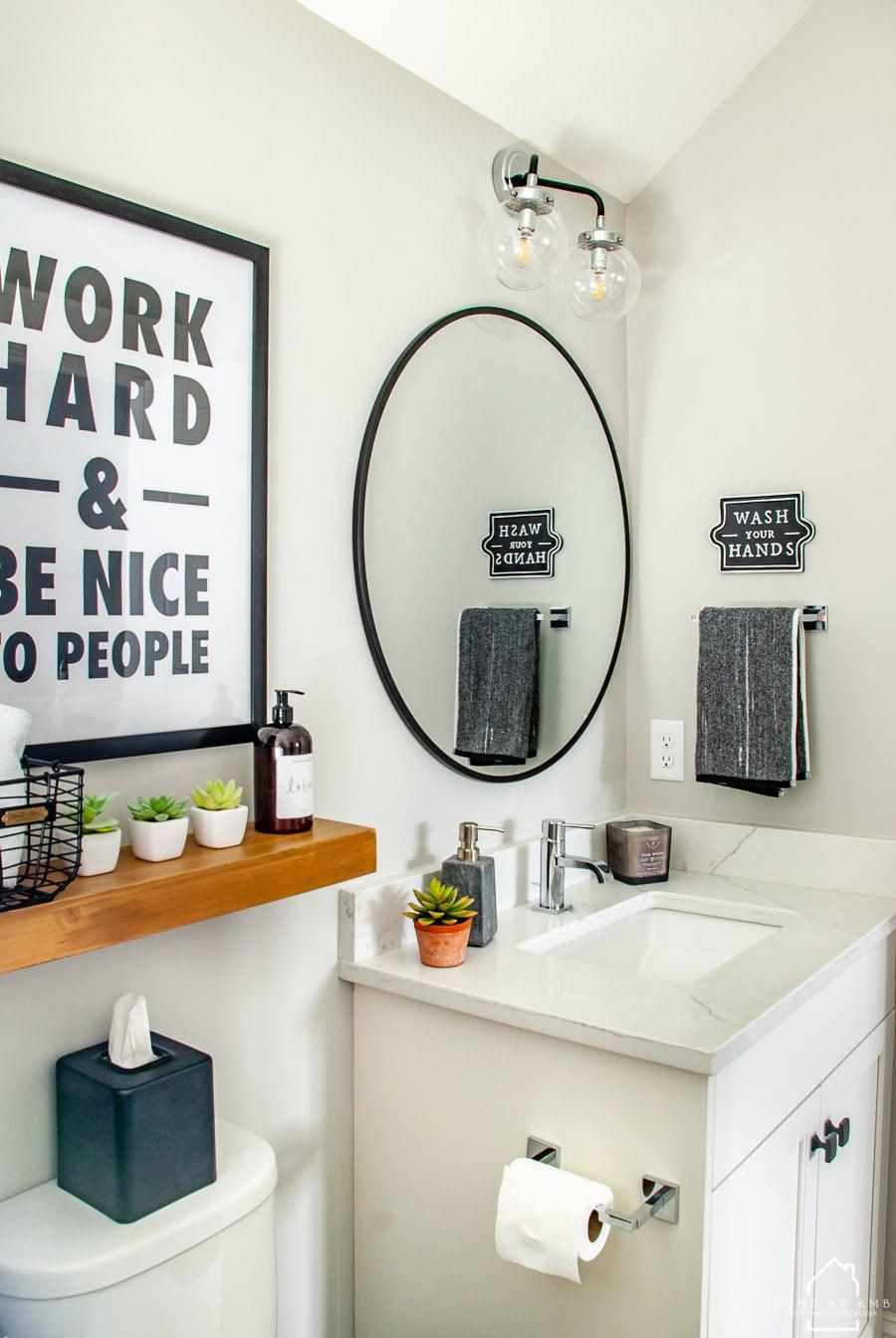 Modern Office Bathroom Reveal Home By Kmb, Office Bathroom Decor