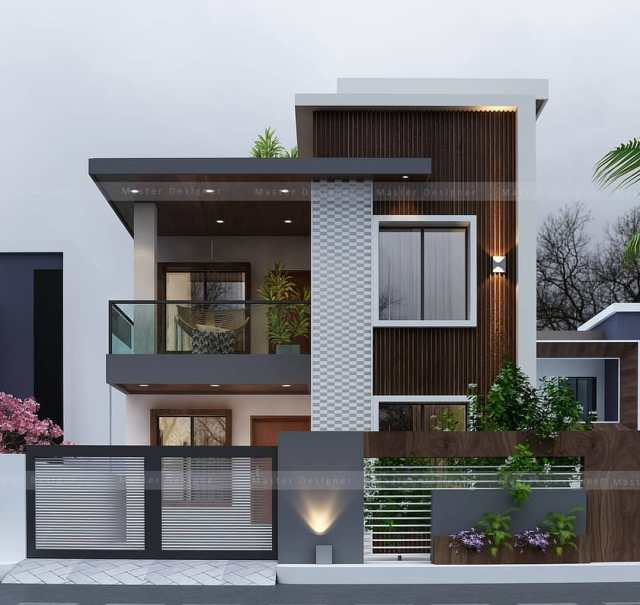 30 X50 Home Design Two Stories Plan With 3d Elevation Home Cad