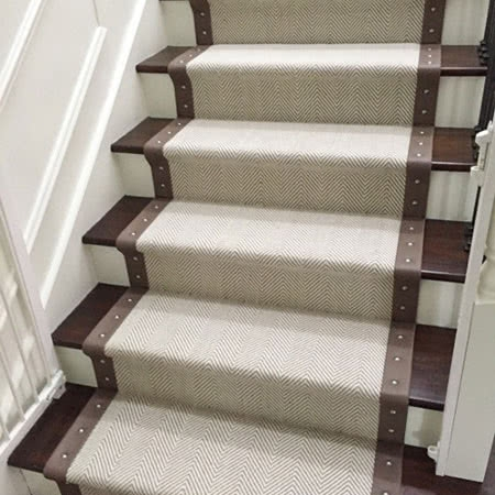 Stair Runners Home Carpet One Chicago | Carpet Runners For Steps | Good Quality Carpet | Starter Step Carpet Runner | Solid Colour | Hollywood | Light Grey