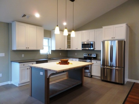 Eat-In Kitchen with Custom Butcher Block Island Counter