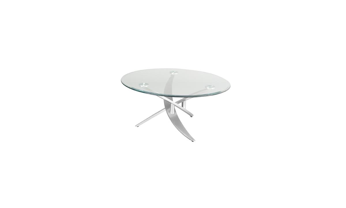 table basse ronde en verre bambou eda concept