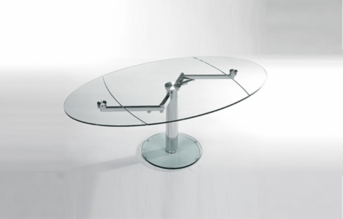 table de repas en verre extensible extand eda concept