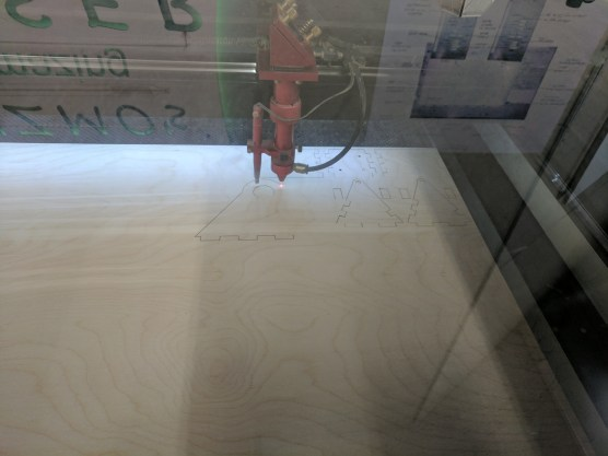Laser cutting the parts
