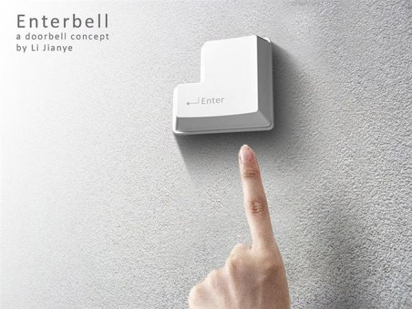 Enter key doorbell