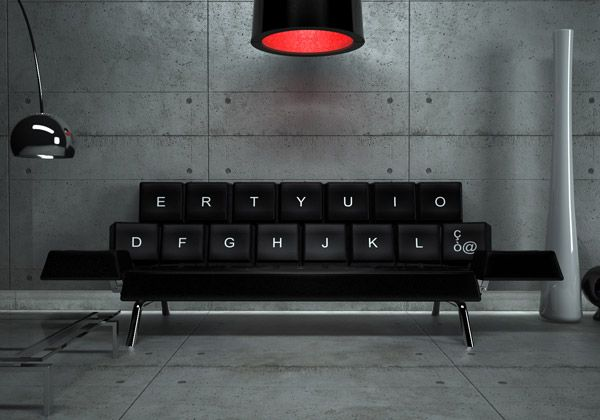 Keyboard sofa bed