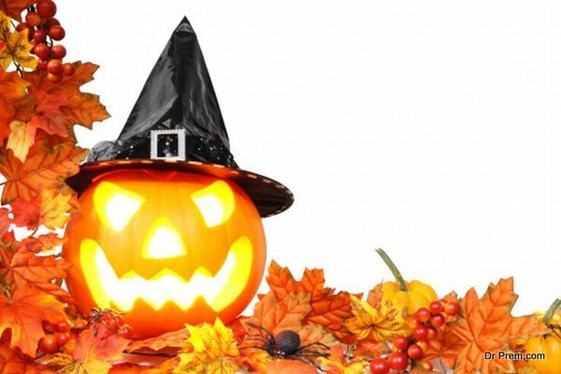 Warm up the room with spooky pumpkin